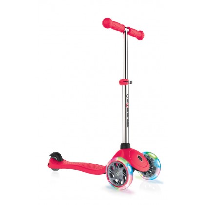 Globber Primo Lights Scooter for 3+ Red