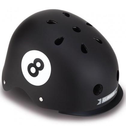 Globber 507120 Helmet Evo Lights (45-51cm)  - Black 8 Ball