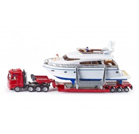 Siku Heavy haulage transporter with Yacht