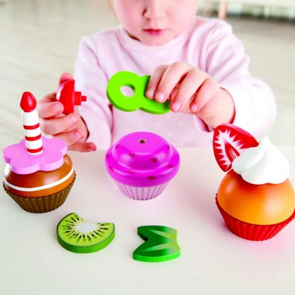 Hape 3157 Cupcakes Kitchen Role Play for Kids age 3+