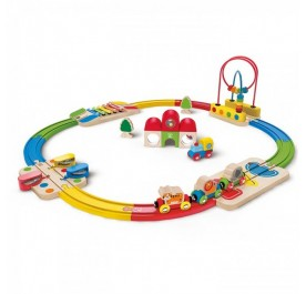 Hape Rainbow Route Railway Station Set