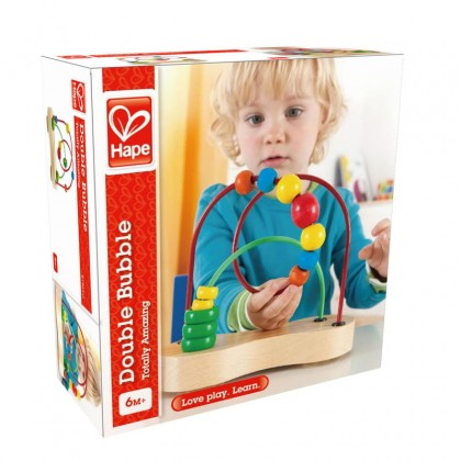 Hape 1801 Double Bubble Beads Maze for 12 months+