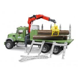 Bruder Mack Granite Timber Truck with loading Crane