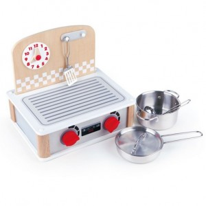 Hape 2 in 1 Kitchen & Grill Set