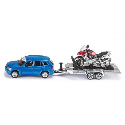 Siku Car with Trailer and Motorbike