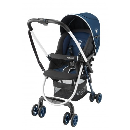 Graco Citilite R Light-weight (4.8kg) Single Stroller with One-hand fold system - Navy