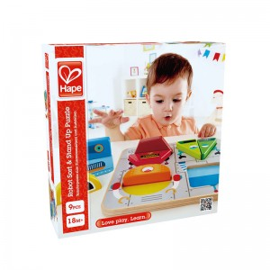Hape Robort Sort & Stand Up Puzzle