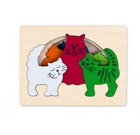 Hape George Luck - Cats Puzzle