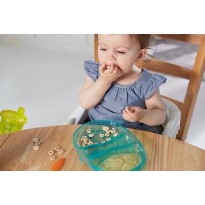 The First Years ake & Toss Double Duty Plates - 4pk