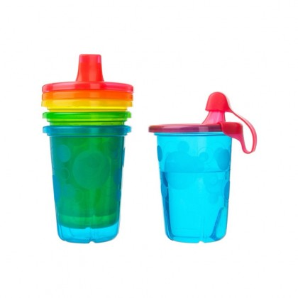 The First Years USA BPA-Free Take & Toss 10oz Spill Proof Cups 4Pk for Toddler 9 months +