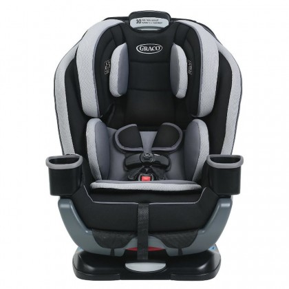 """Graco Extend2fit 3-in-1 Convertible Car Seat with 5"""" extra leg room from newborn to 45 kg (Garner)"""