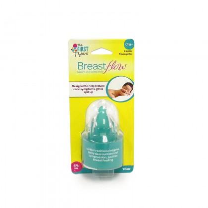 The First Year Breastflow Slow Nipple - 2pk