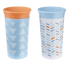 TFY Simply Spoutless 9oz Cup - 2pk Blue