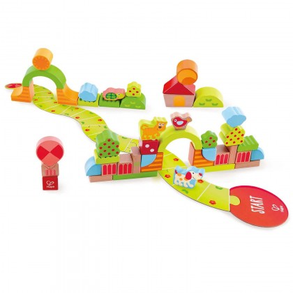 Hape 0449 Sunny Valley Play Blocks for Toddler 12 month+