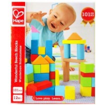 Hape Wonderful Beech Block Set - 101 pcs
