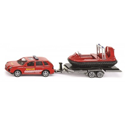 Siku Car with Trailer and Hovercraft