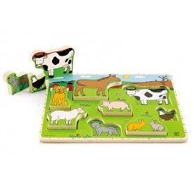 Hape Farm Animal Stand Up Puzzle