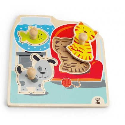 Hape My Pets Knob Puzzle
