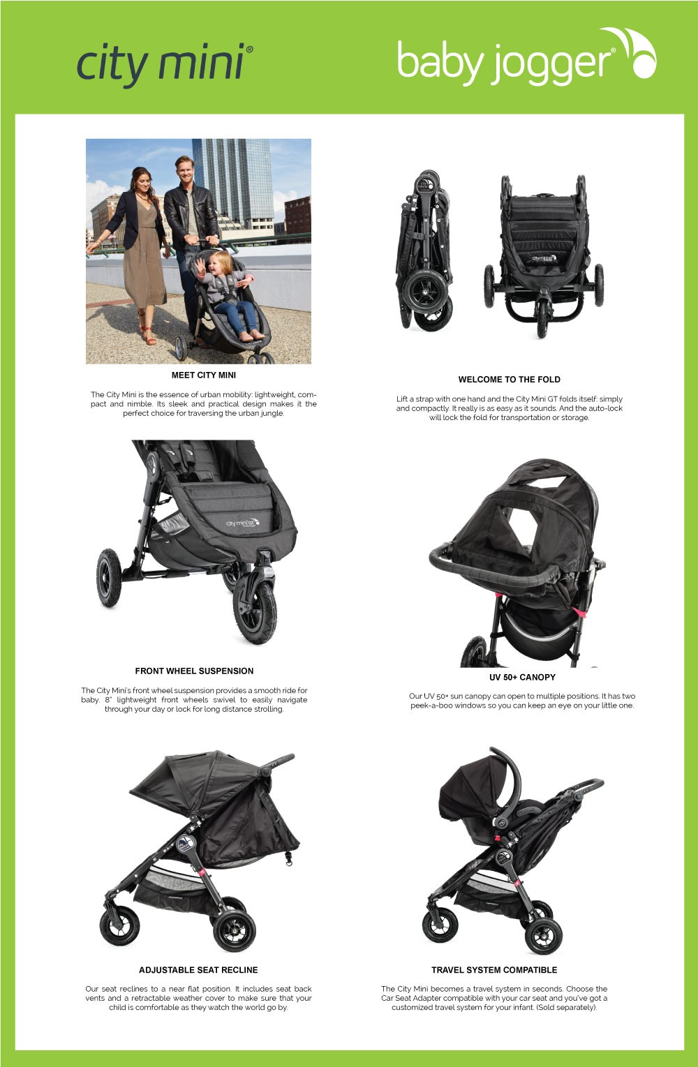 Baby Jogger City Mini Single Stroller 3 Wheels Anniversary Version