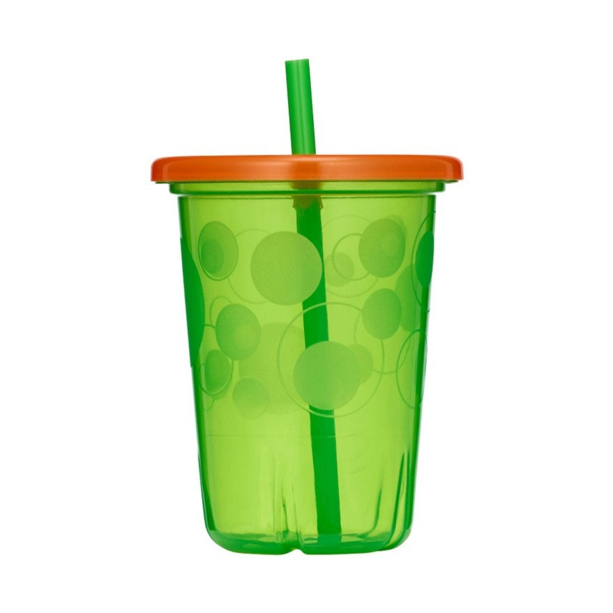 Pack of 4 10 Ounce The First Years Take /& Toss Spill Proof Straw Cups