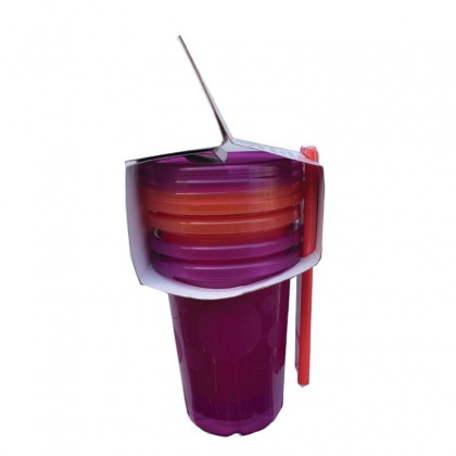 The First Year USA BPA-Free Take & Toss 10 oz. Spill-Proof Straw Cup - Pink/Purple (4-pack) for Toddler 18 month+