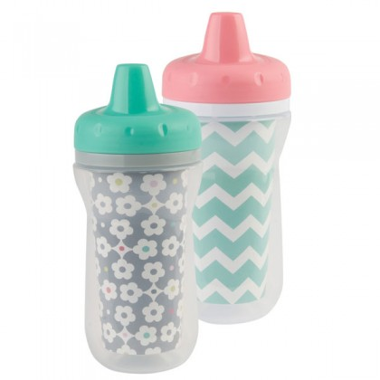 TFY USA BPA-Free Super Chill Sippy 9oz Insulated Cups 2Pk for Toddler 9 months+